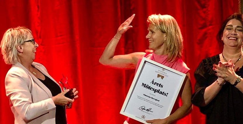 Thoresta Herrgård i Bro var en av flera vinnare när<br />  Svenska  Mötespriset delades ut på måndagen.  Foto: Thoresta Herrgård