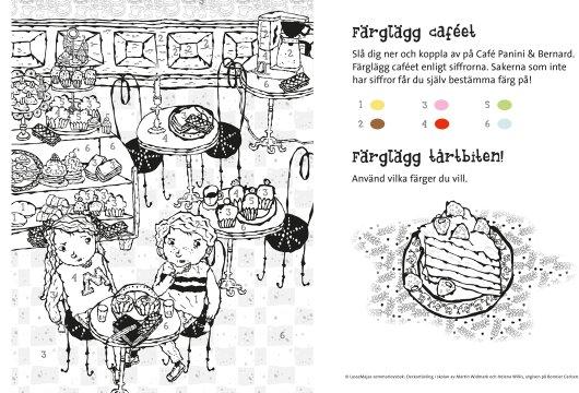 LasseMaja-pyssel färglägg caféet