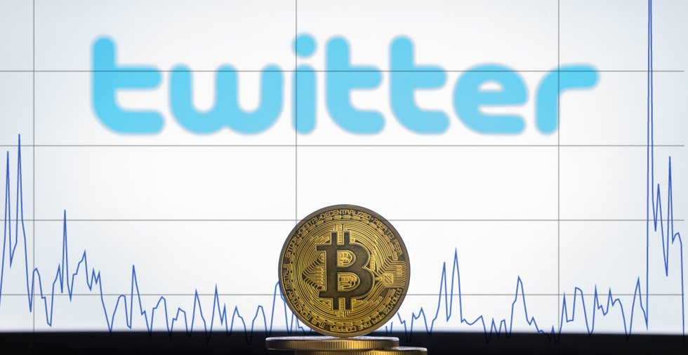 Antalet tweets om bitcoin under en dag har nått sin högsta nivå på två år