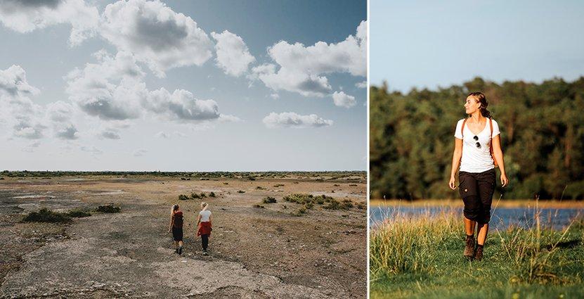 Felicia Bäckström upplever gärna Ölands olika naturmiljöer på sin fritid. Foto: Alexander Hall