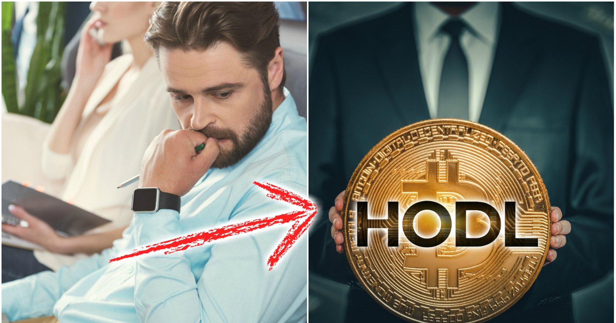 Ny studie: Investerare håller hårt i sina bitcoin.