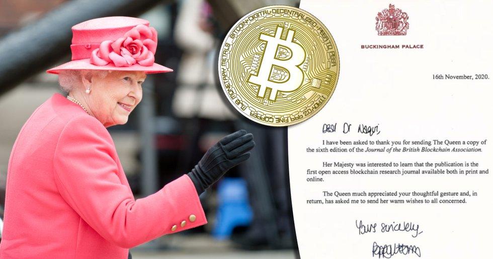 Drottning Elizabeth II av Storbritannien visar intresse för blockkedjeteknik