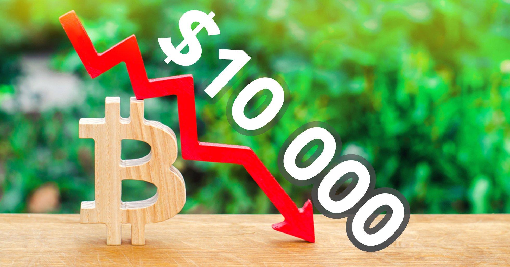 Bitcoin sjunker under 10 000 dollar – har tappat över sex procent det senaste dygnet