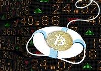 Bitcoin rusar när aktiemarknaderna faller: