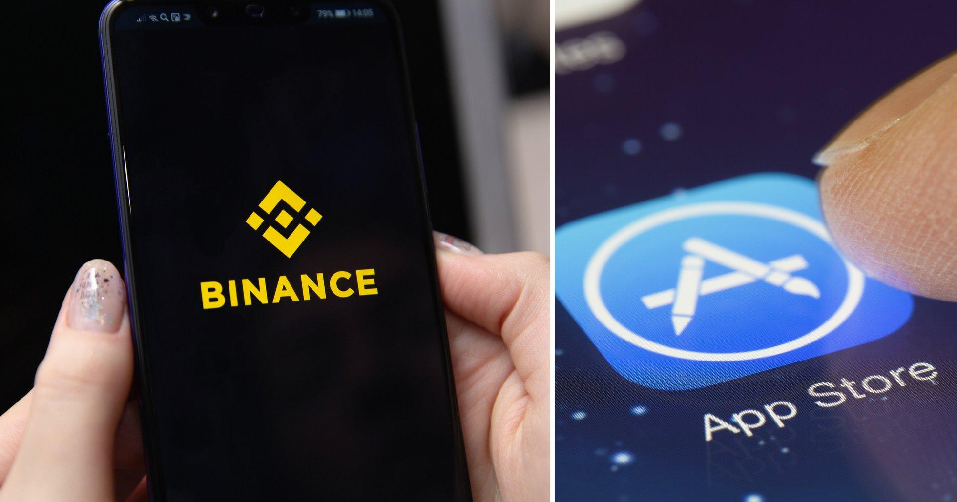 Binances app för IOS är tillbaka i App Store: