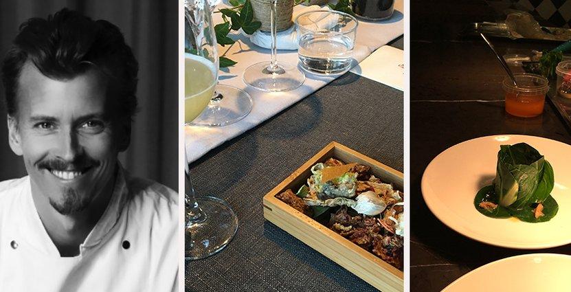 Paul Svensson är djupt imponerad av hur studenterna<br />  tagit sig an uppgiften att laga mat med noll svinn. Foto: Erica Wessman, Örebro Universitet