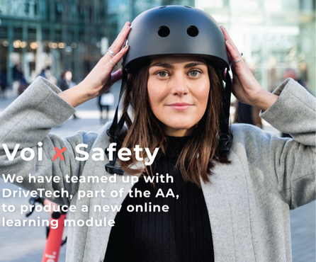 Voi and DriveTech create online road safety module for safer e-scooting
