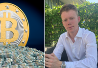 Jonathan, 18, tar studenten i dag – har redan tjänat miljonbelopp på bitcoin