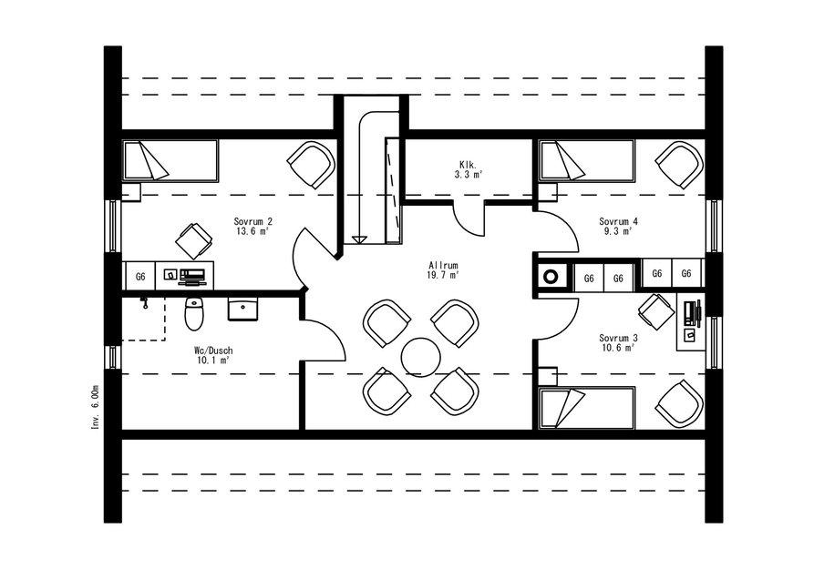 Planritning för Villa Forsed