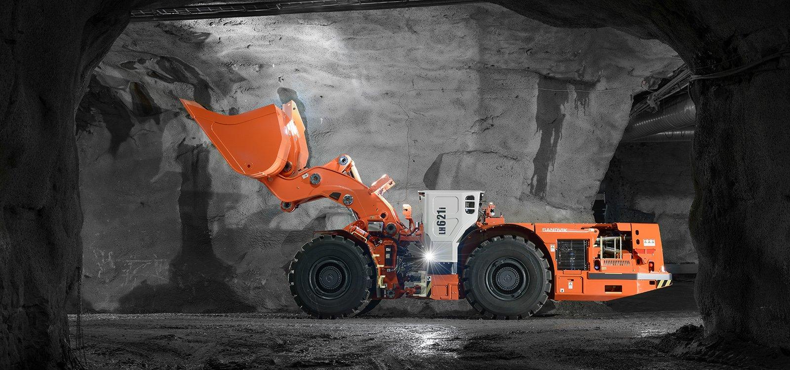 Sandvik LH621i предназначен для быстрой очистки забоев туннелей, что положительно сказывается на скорости проходки.