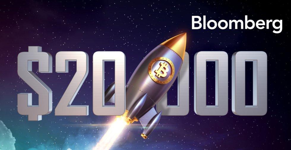 Bloomberg: Sannolikt att bitcoinpriset når 20 000 dollar innan året är slut