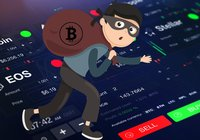A gang of masked thieves broke into a crypto exchange