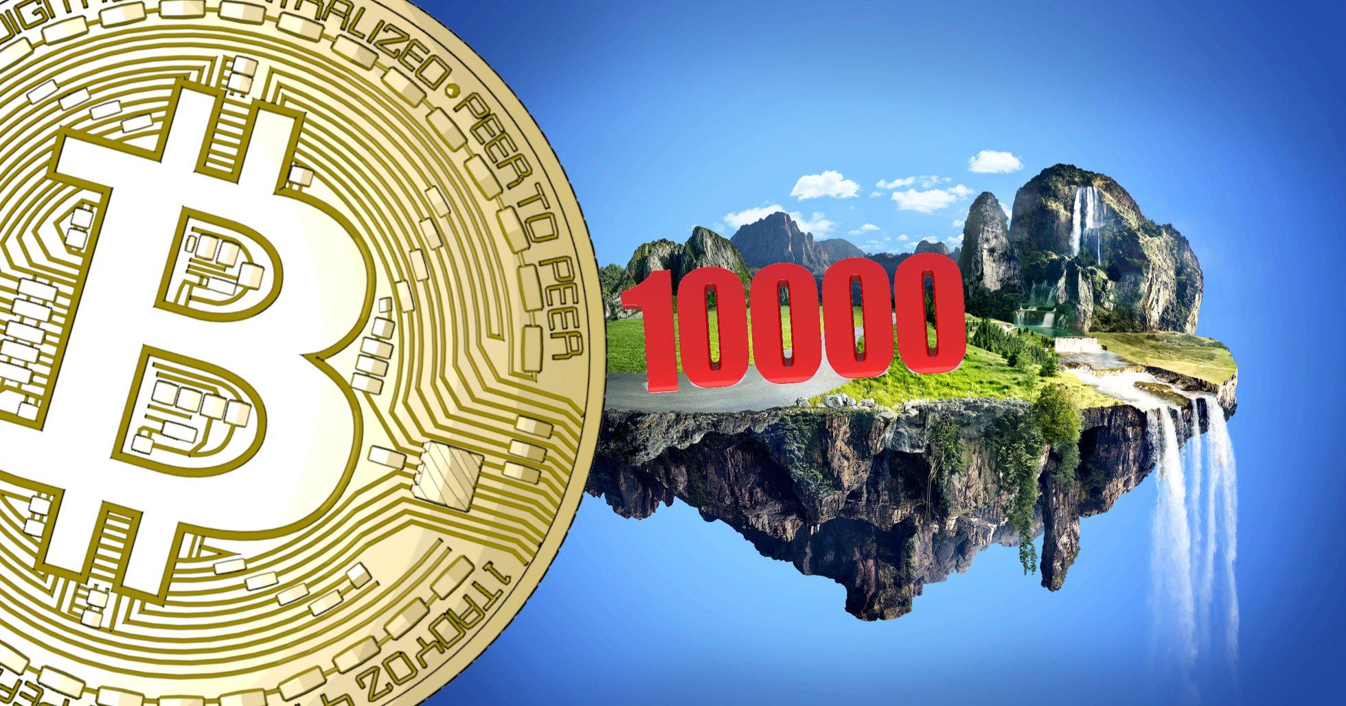 Bitcoinpriset har parkerat strax över 10 000 dollar – altcoins visar röda siffror.