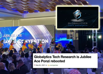 Suspected Jubilee Ace fraudsters are behind Globalytics Tech Research