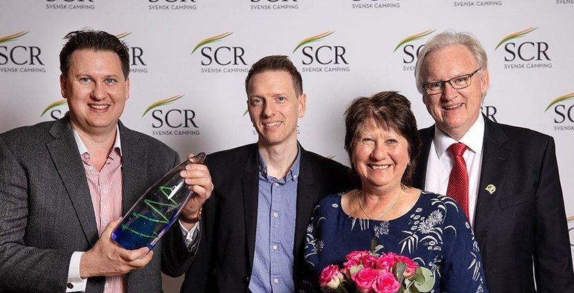 Det prestigefulla priset Årets branschförflyttare gick till Dragsö Camping & Stugby. Foto: SCR