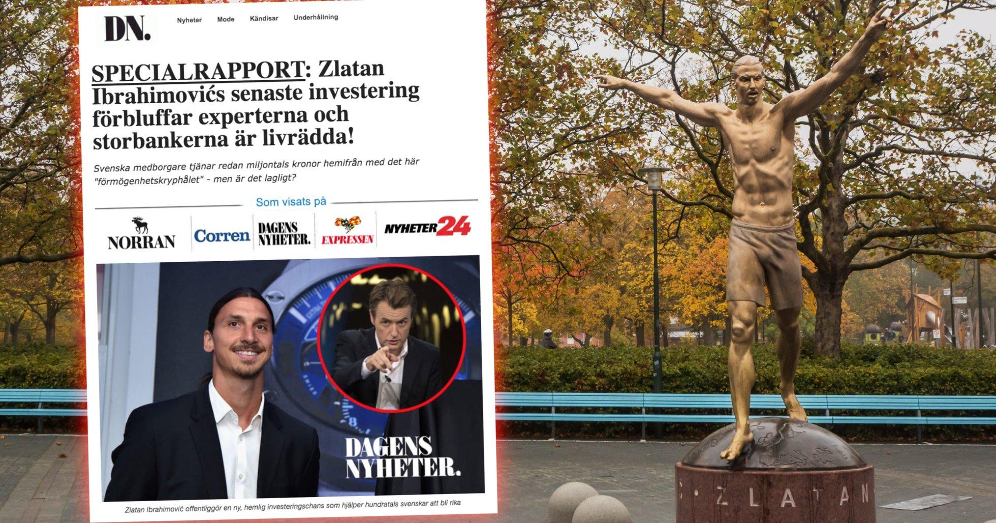 Zlatan Ibrahimovic används i bedrägeriet Bitcoin Revolution
