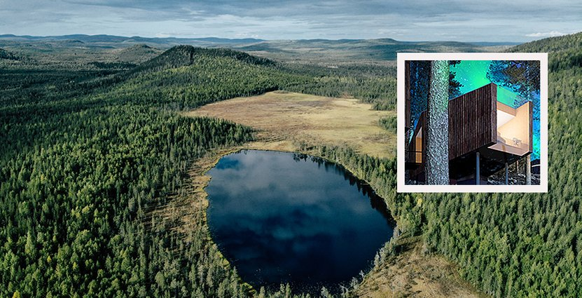 Det är kring berget Pullinki som hotellet Lauka Hotel & Nature Suites ska byggas.<br />  Foto: Svanstein Resort