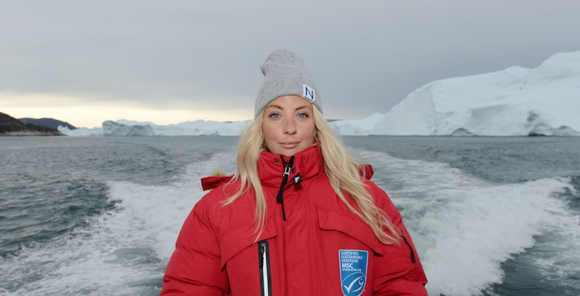 På en resa med MSC till Grönland fick Frida Ronge lära sig mer om hållbart fiske.  Foto: MSC