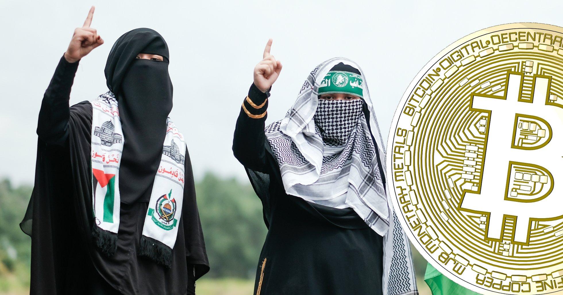 Terrororganisationen Hamas samlar in pengar med hjälp av bitcoin.