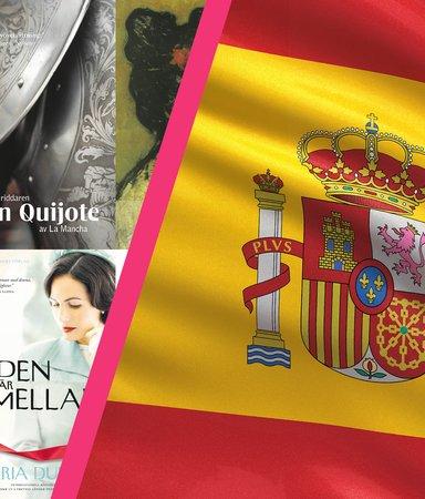 5 böcker av 5 kända spanska författare