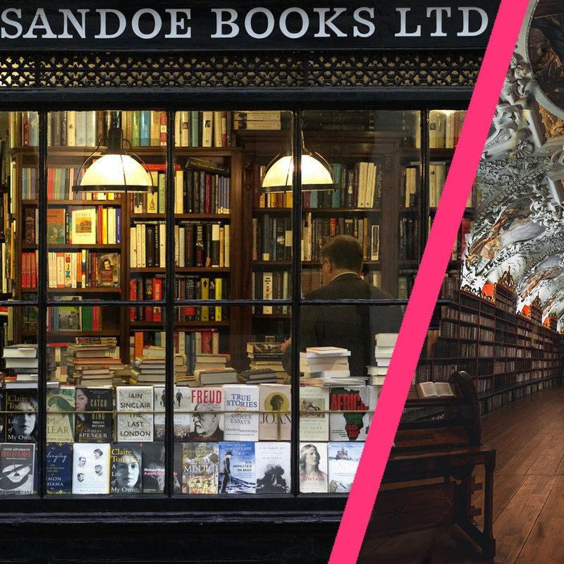 De 10 vackraste bokhandlarna i världen