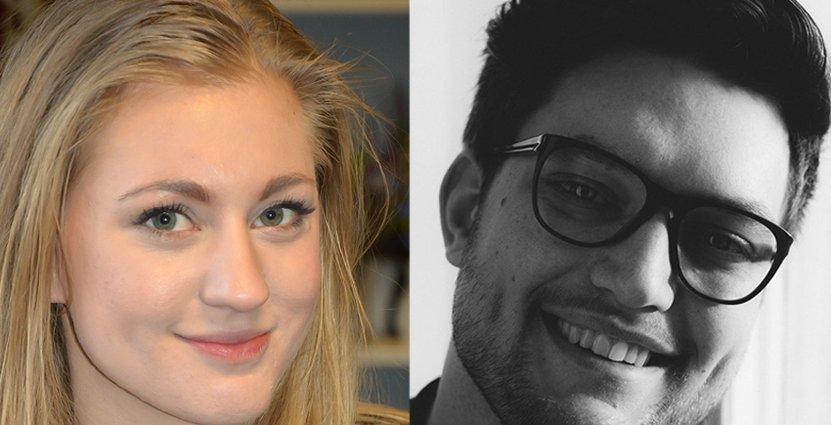 Fler finalister: Ida Berzén och Sebastian Seeman (Ej med på bild är sjätte finalisten Magnus Santesson).