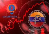 Venezuelaner säljer sitt lands egen kryptovaluta petro – för halva priset