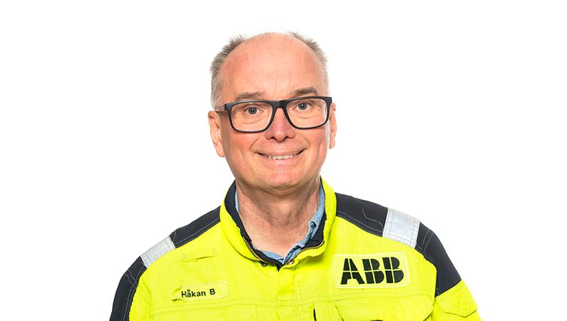Håkan Bihagen på ABB är ansvarig för att administrera servicearbetet på ABB:s installation i anrikningsverket i Aitik.