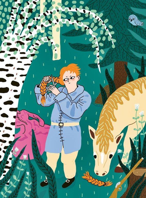 Ulrika Eleonora Stålhammar. Illustration av Cajsa Wessberg