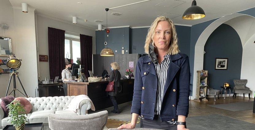 Helena von Porat, vd på Hotel Bolinder Munktell. FOTO: Maud Lindholm