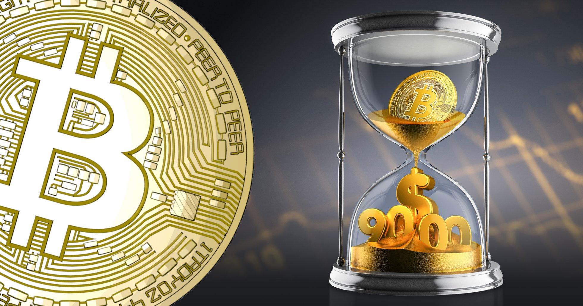 Bitcoinpriset över 9 000 dollar igen –har stigit över 4 procent sedan i morse.