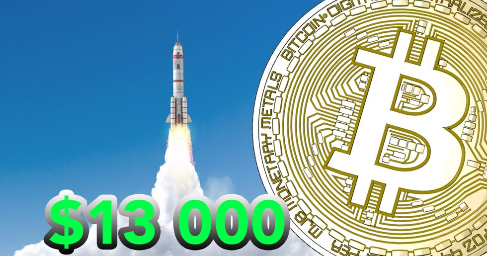 Bitcoin rushes above $13,000 – its highest mark since January 2018
