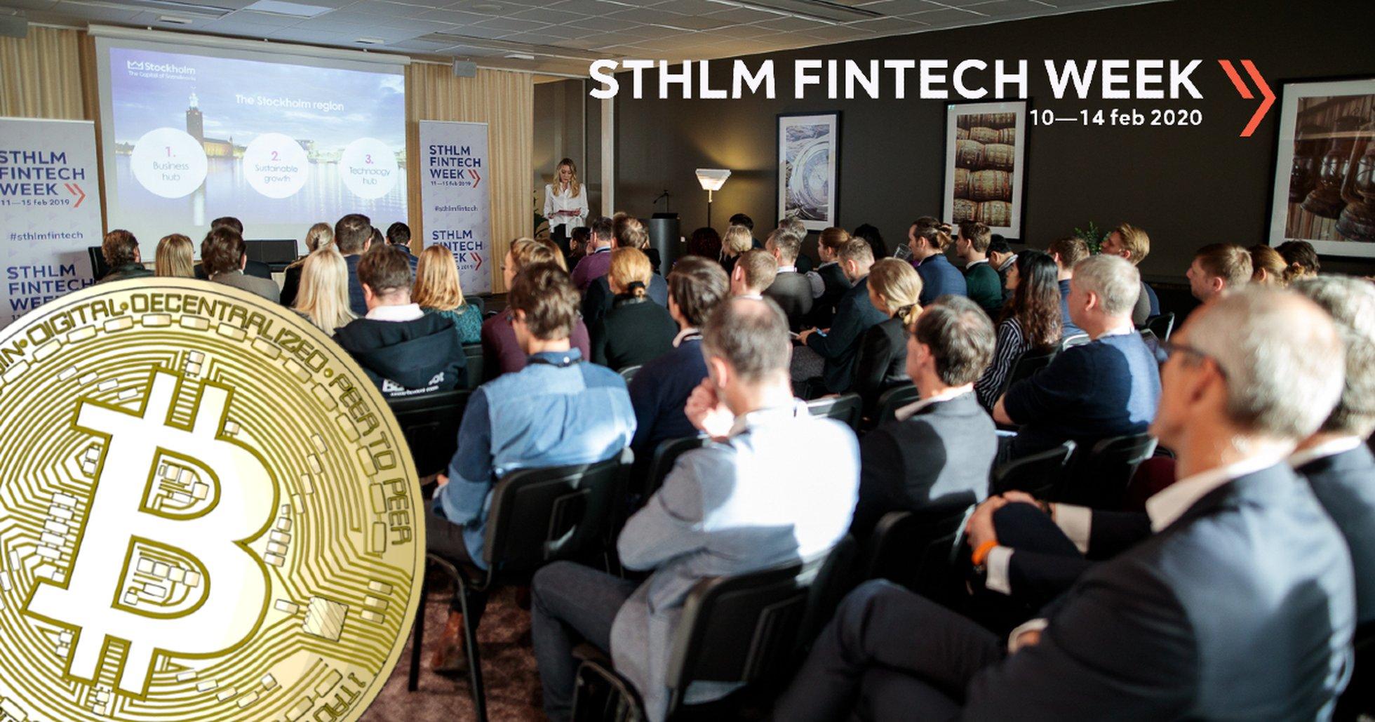 Sthlm Fintech Week satsar på blockkedjetekniken och kryptovalutor.
