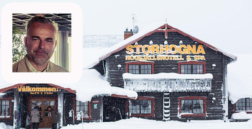 Den 1 september tog Cibola över Storhogna Högfjällshotell & Spa i Jämtlands fjällvärld. Här vd Jacob Dahlberg. FOTO: Oscar Åberg Dahlberg