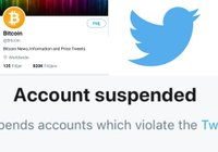 Twitter has suspended the account @Bitcoin