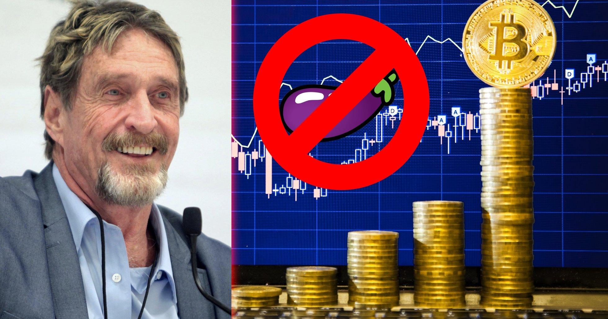 John McAfee backar från sitt penislöfte – och dissar bitcoin