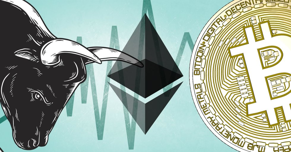 Ethereum shows a really strong growth right now.