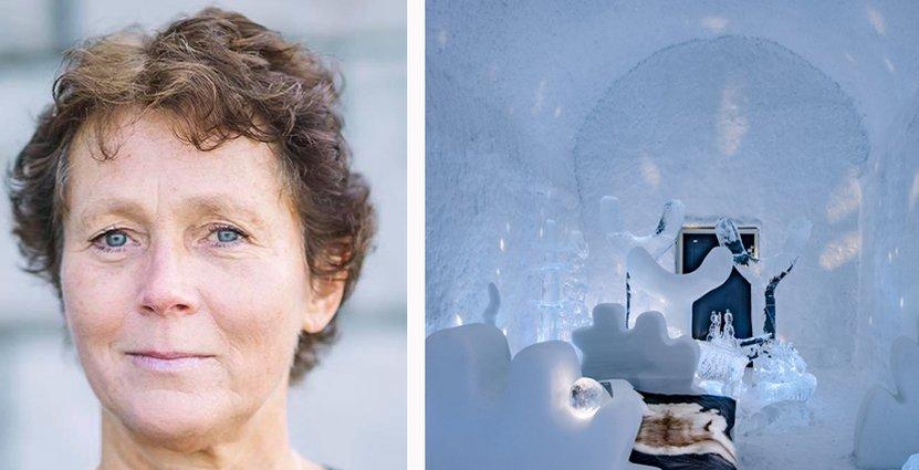 Malin Franck, vd för Icehotel säger att livestreamade upplevelser ökat intresset för hotellet. Foto: Rebecca Lundh, pressbild.