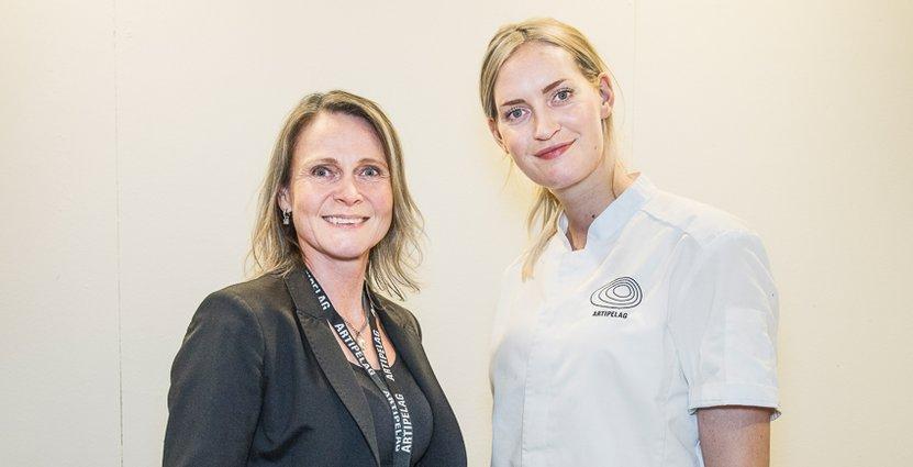 Artipelags Head of meeting and events, Lena Arnell, och konditor Annie Hesselstad.