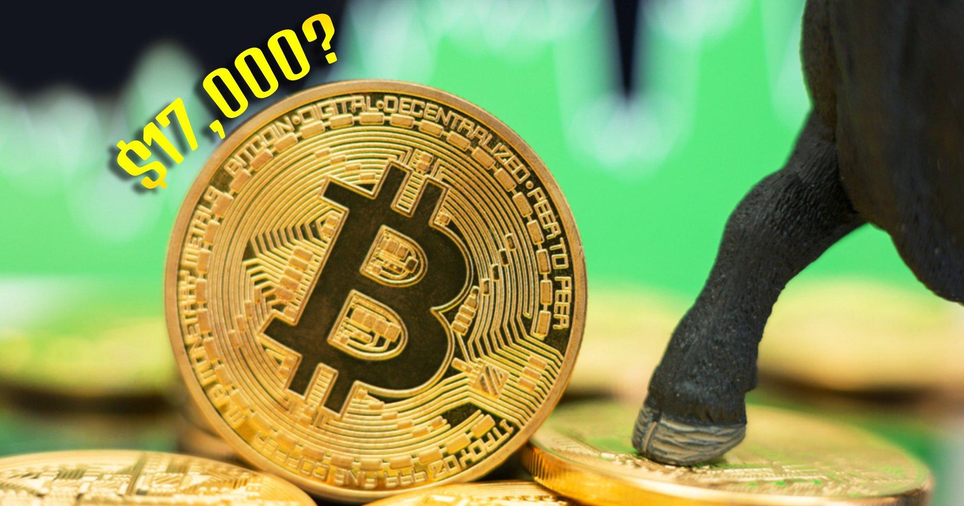 Analytiker när bitcoin når sitt högsta pris sedan augusti: 17 000 dollar i blickfånget