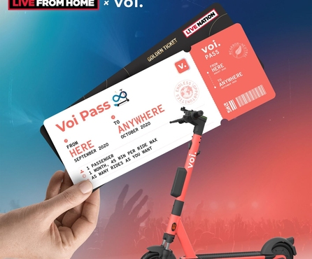 Buy a Voi Pass and win a Golden Ticket to 7 Live Nation festivals