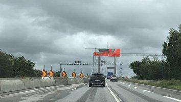 Tillfälligt trängre på Älvsborgsbron