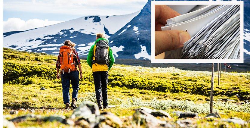 STF genomförde en namninsamling för att uppmärksamma<br />  fjälledernas behov av upprustning. Foto: Anette Andersson