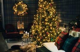 Hotellrum erbjuder julstämning i oktober