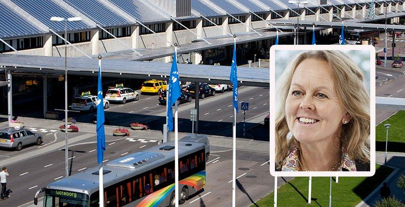 Mellan 2016 och 2017 ökade antalet resenärer från 6,4 till 6,8 miljoner. Foto: Landvetter Airport
