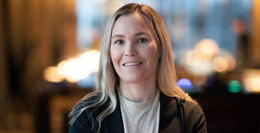 Sommelierföreningens nya ordförande Janni Berndt Dahl tycker att det <br /> är viktigt att vara en bra förebild i alla lägen. Foto: Sofia Wahlström
