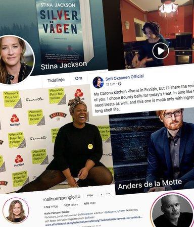 Här är författarstjärnorna du kan följa i sociala medier