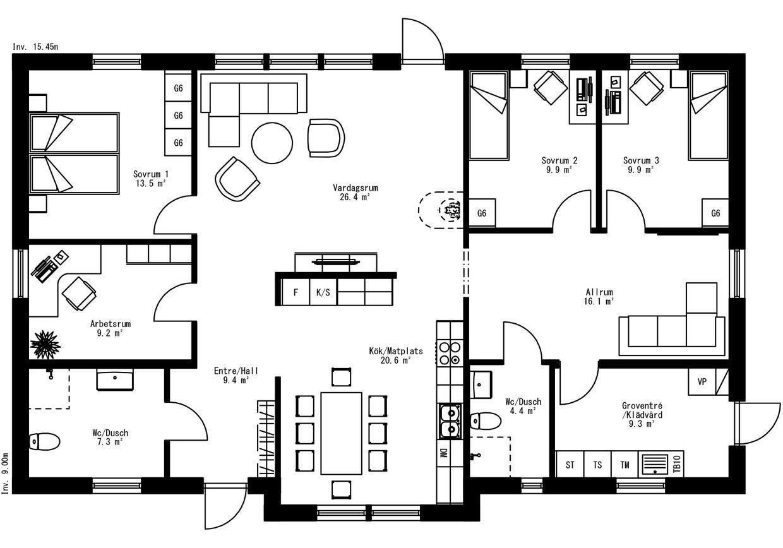 Planritning för Villa Notsand