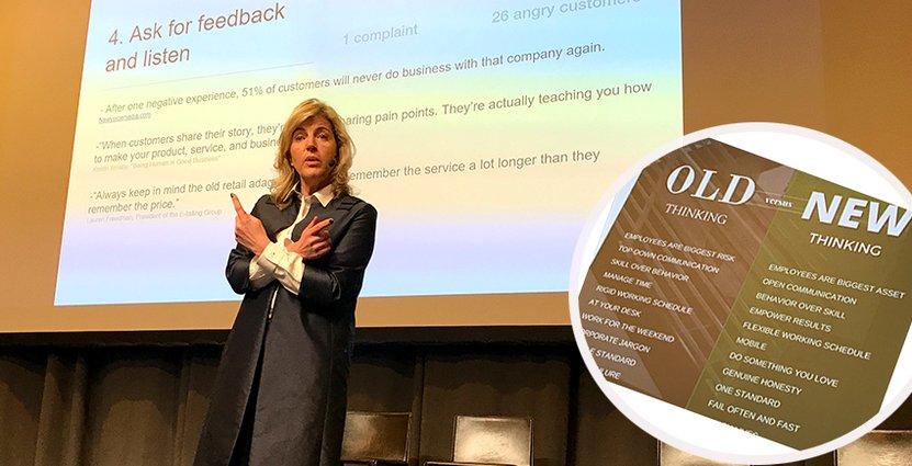 En av huvudpunkterna under Hotel Market Seminars var<br /> Angelique Klars dragning om behovet av ökat kundfokus. Foto: Besöksliv