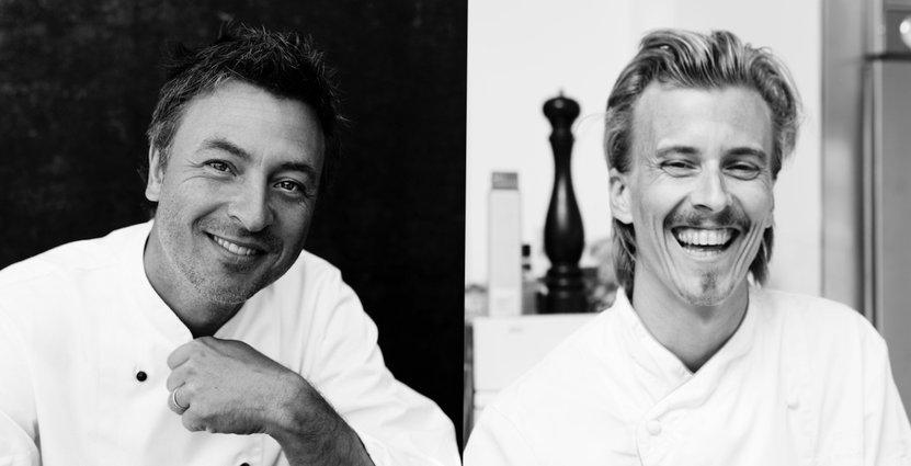 Tareq Taylor och Paul Svensson öppnar krog och mathandel i Sundbyberg. Foto: Peter Carlsson, Jakob Fridholm